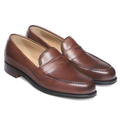 Joseph Cheaney Hudson Penny Loafer In Conker Calf Leather