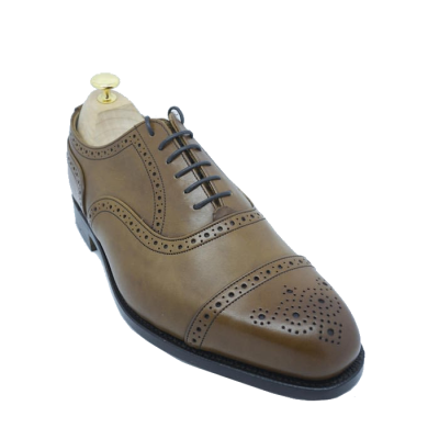 Tricker's Kensington Semi Brogue in Beechnut Burnished