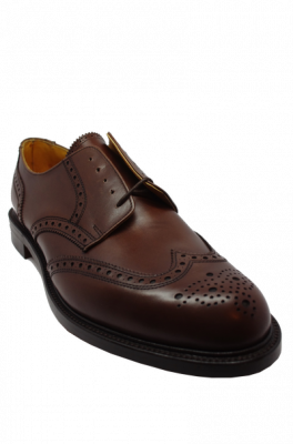 Alfred Sargent Large Size Gibson Brogue in Brown