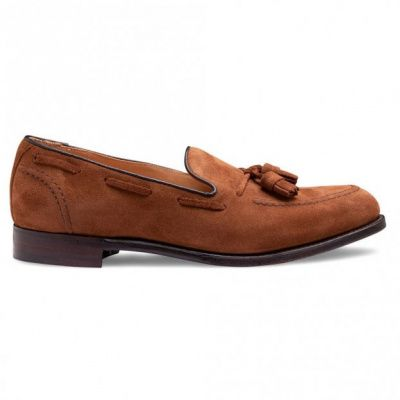 Joseph Cheaney Harry II Tassel Loafer in Fox Suede