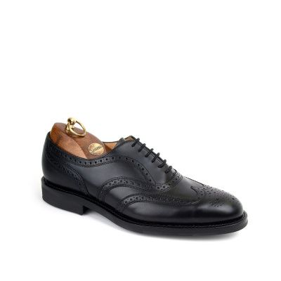 Sanders Oslo Brogue Oxford Shoe in Black