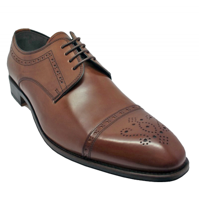 John White Charter Semi Brogue in Tan