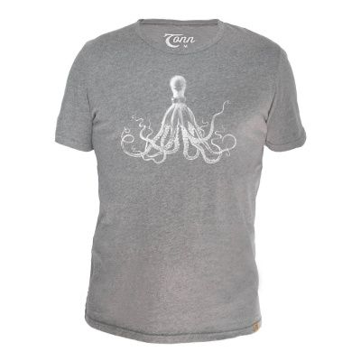 Tonn T-Shirt Octopus in Grey