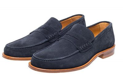 John White Allsop Suede Loafer in Navy