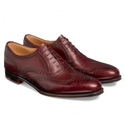 Cheaney Broad II Oxford Wingcap Calf Leather Brogue in Burgundy