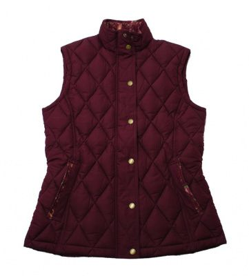 Barbour Tors Gilet in Red