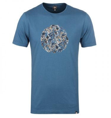 Pretty Green Stretford Paisley Logo T-Shirt In Indian Teal
