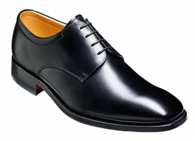 Barker Greenham Large Size Oxford Lace Up Shoe in Black