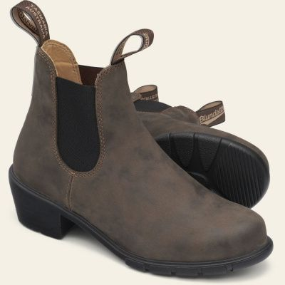 Blundstone 1677 Heel Boots in Rustic Brown