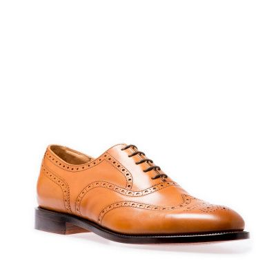 NPS Shoes Churchill 5 Eye Brogue Oxford in Acorn