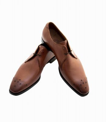 Joseph Cheaney Hardy Derby Shoes in Brandy