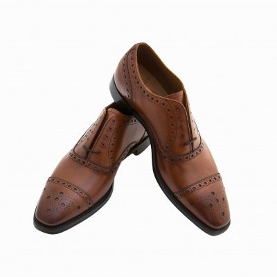 Joseph Cheaney Parkinson Brogue in Brandy