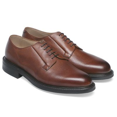 Joseph Cheaney Deal Derby In Mahogany Grain Leather