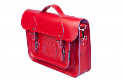 Zatchels Classic Red Leather Satchel 13