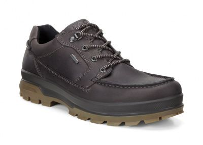 ECCO Rugged Track Low Shoes in Mocha Oil Nubuck