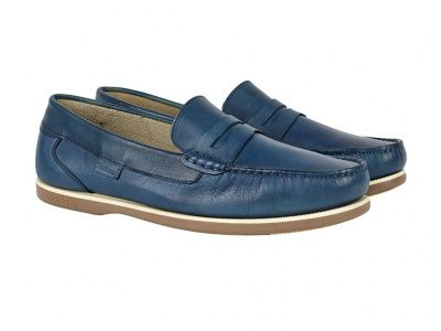Chatham Faraday Loafer Shoes in Azure