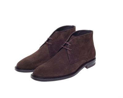 John White Westfield Chukka Boot In Brown Suede