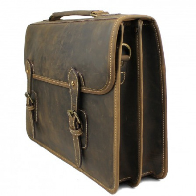 Tusting Wymington Leather Briefcase In Aztec Crazyhorse