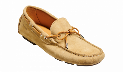 Barker Dough Boat Shoe in Sand Suede
