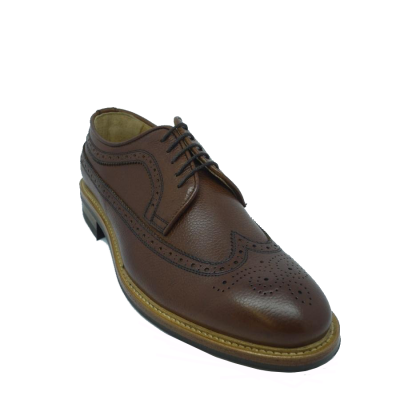 John White Wroxton Brogue Shoe in Brown Grain
