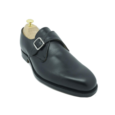 Tricker's Mayfair Monk Shoe in Black Calf