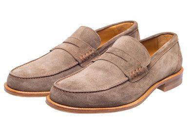 John White Allsop Suede Loafer In Sand