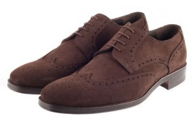 John White Fontwell Suede Brogue In Brown