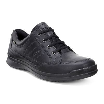 ECCO Howell Low Shoes with laces in Black Drago