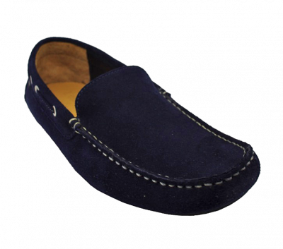 Loake Donington Moccasins in Navy Suede