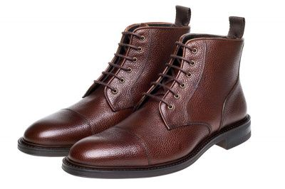 John White Tay Grain Boots in Brown