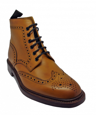 Loake Burford Brogue Boot in Tan