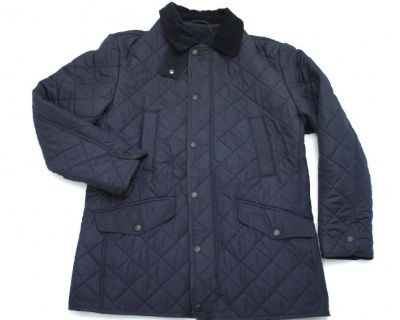 Barbour Bardon Quilted Jacket in Navy