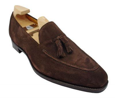 Gaziano & Girling Corniche Loafers in Mole Suede