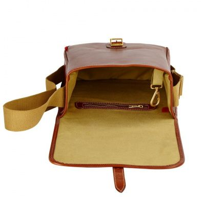 Chapman Reiver Leather Despatch Bag in Brown