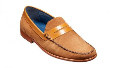 Barker William Loafer in Camel Suede / Cedar Calf