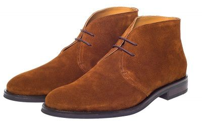 John White Augusta Chukka Boots In Cognac Suede