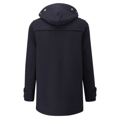 Gloverall Monty Mid Length Coat in Navy