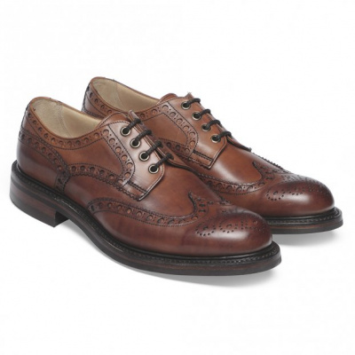 Cheaney Avon R Wingcap Country Brogue in Dark Leaf Calf Leather