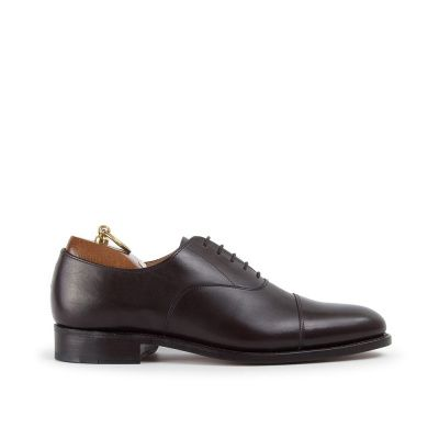Sanders Stockholm Oxford Shoe in Ebony Cap