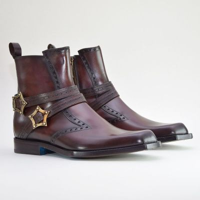 Twisk Firenze Jodhpur Boot in Dark Chocolate Brown