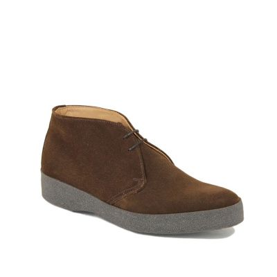 Sanders Hi-Top Chukka Boot in Snuff Suede