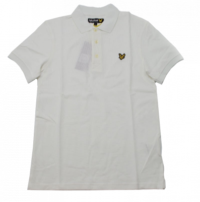 Lyle & Scott Classic Plain Pique Polo Shirt in White