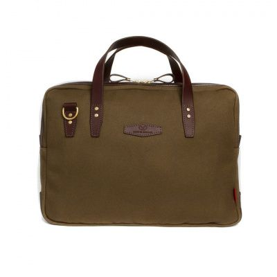 Chapman Bovey Briefcase in Olive