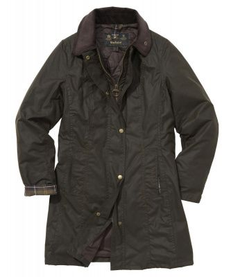 Barbour Belsay Wax Jacket in Olive