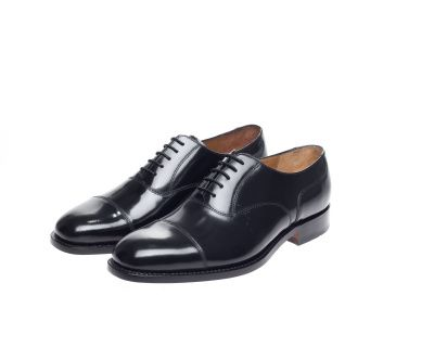 John White Sergeant Capped Oxfords in Black