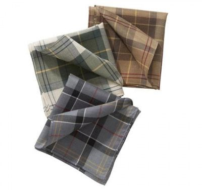 Barbour Tartan Handkerchief Set