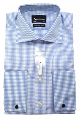 Aquascutum Canterbury Formal Shirt in Blue Check