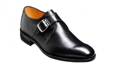 Barker Northcote Monk Shoe in Black Calf
