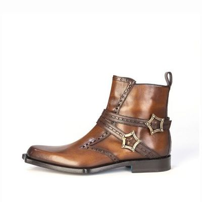 Twisk Firenze Jodhpur Boot in Antiqued Tan